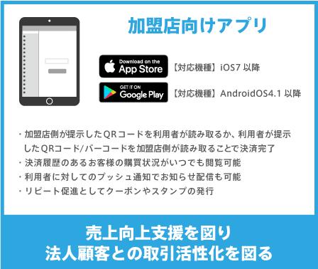 加盟店向けアプリ